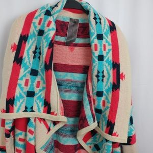 Moon Collection Aztec Printed Sweater Cardigan